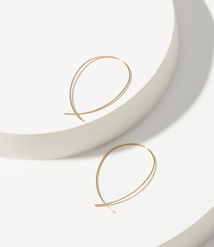 Image of Sculptural Hoop Earrings