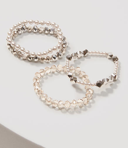 Image of Pearlized Stretch Bracelet Set