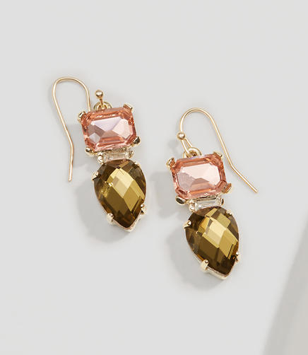 Image of Multifaceted Crystal Drop Earrings