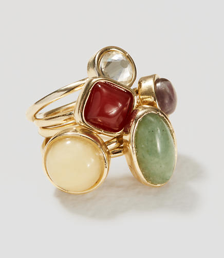 Image of Mixed Stone Ring Set