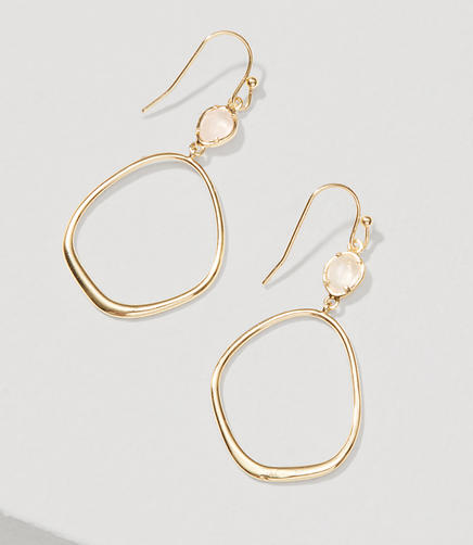Image of Blush Loop Drop Earrings