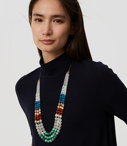Image of Multistrand Beaded Necklace