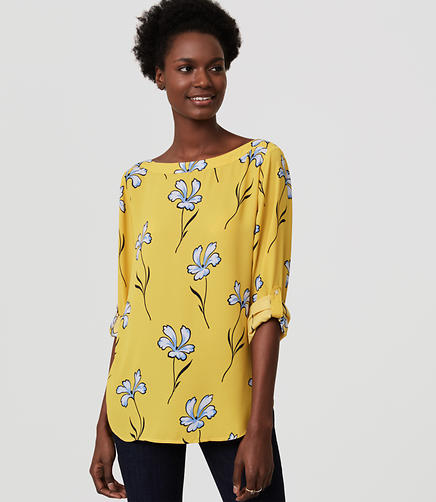 Image of Petite Lily Tab Sleeve Blouse