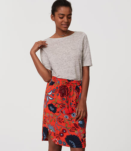 Image of Primavera Drawstring Pencil Skirt