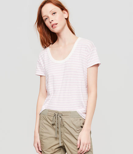 Image of Lou & Grey Striped Softserve Cotton Tee