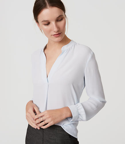 Image of Split Neck Blouse