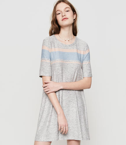 Image of Lou & Grey Striped Marlknit Swing Dress