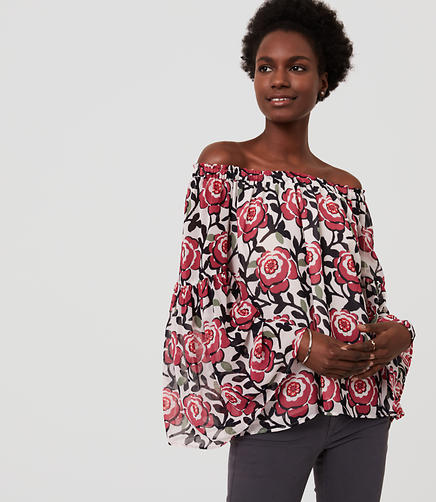 Image of Petite Blossom Off The Shoulder Top