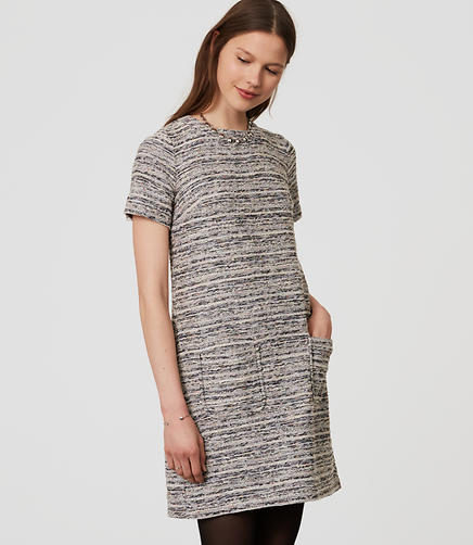 Image of Boucle Pocket Dress