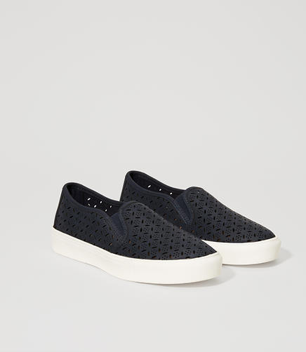 Image of Perforated Slip-On Sneakers