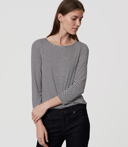 Image of Paneled Stripe Top