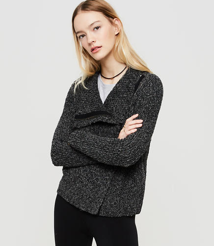 Image of Lou & Grey Zip Moto Sweater Jacket