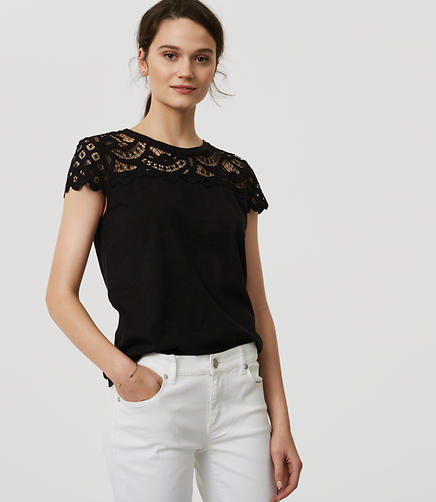 Image of Lace Topped Tee