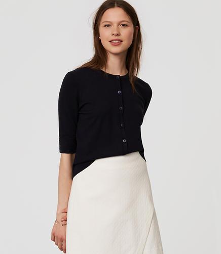 Image of Petite Signature Short Sleeve Cardigan