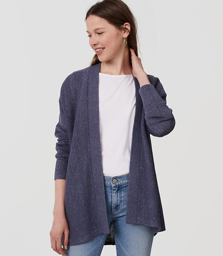 Image of Shimmer Relaxed Open Cardigan