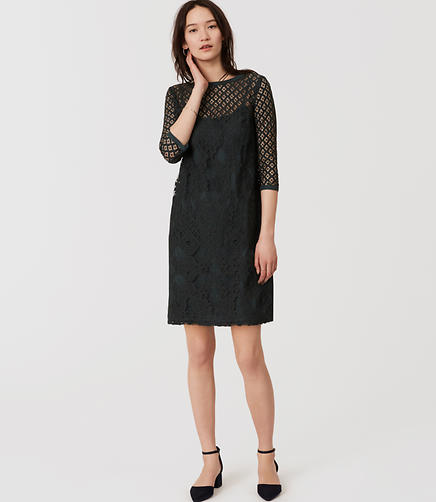 Image of Diamond Lace Shift Dress