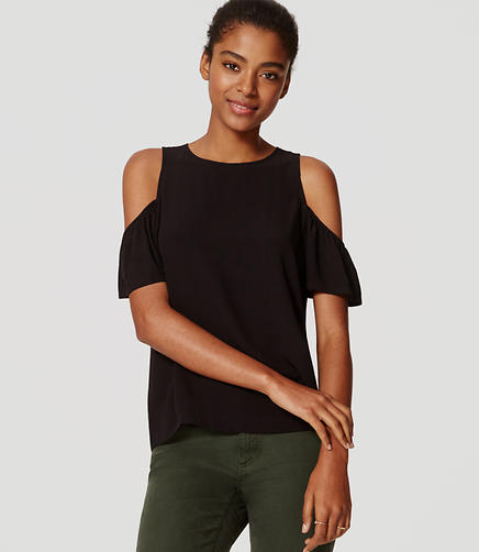 Image of Cold Shoulder Blouse