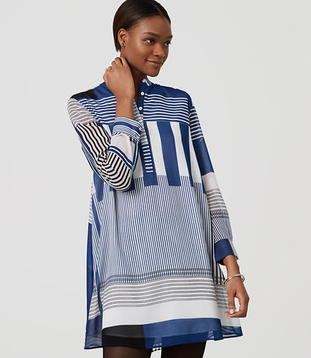Image of Stripeout Shirtdress