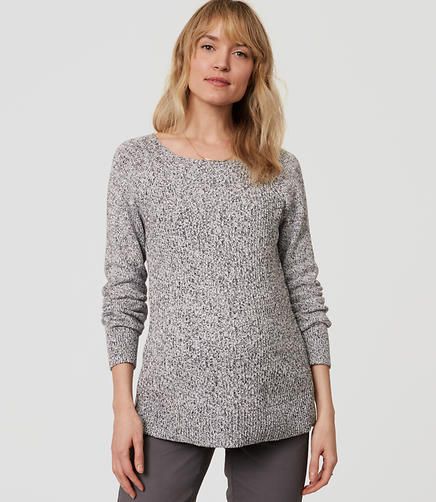 Image of Maternity Ribbed Pointelle Sweater
