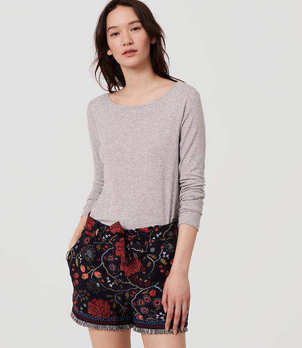 Image of Petite Primavera Tie Waist Shorts