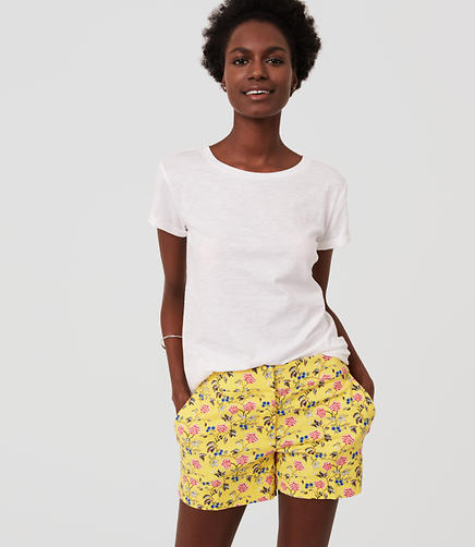 Image of Petite Floral Riviera Shorts with 3 1/2
