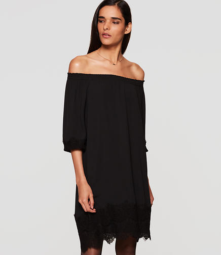 Image of Lacy Off the Shoulder Dress