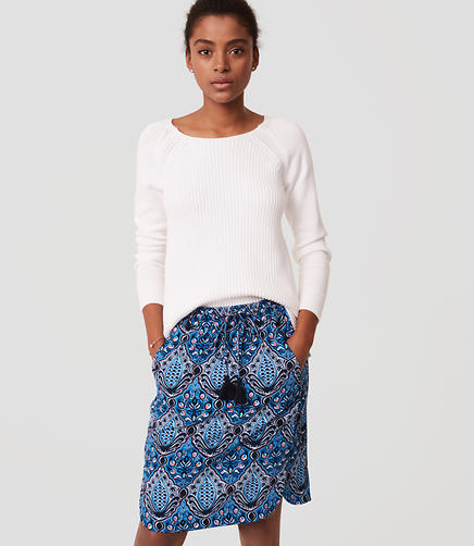 Image of Petite Baroque Drawstring Pencil Skirt