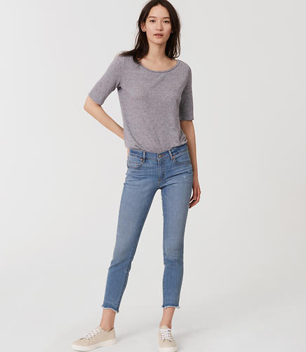 Image of Petite Modern Skinny Ankle Jeans in Light Enzyme Wash