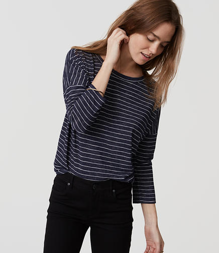 Image of Striped Dolman Tee