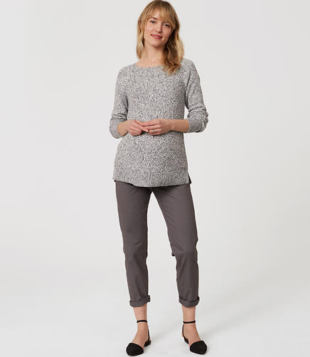 Image of Maternity Cropped Skinny Chinos