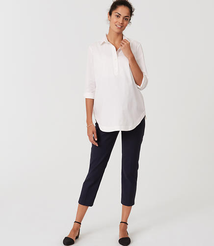 Image of Petite Maternity Riviera Pants