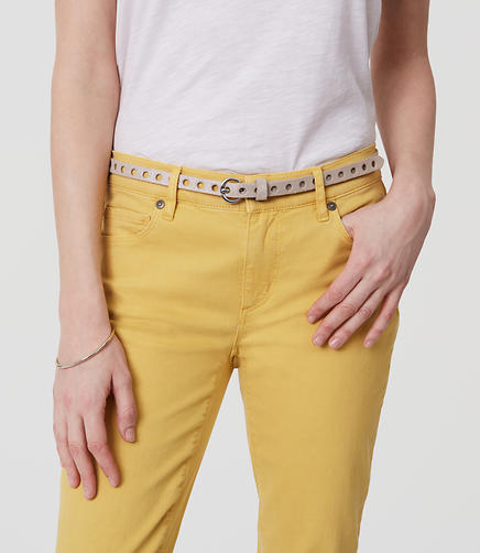 Image of Metallic Perforated Skinny Belt