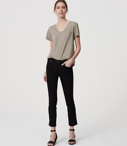 Image of Petite Skinny Crop Jeans in Black