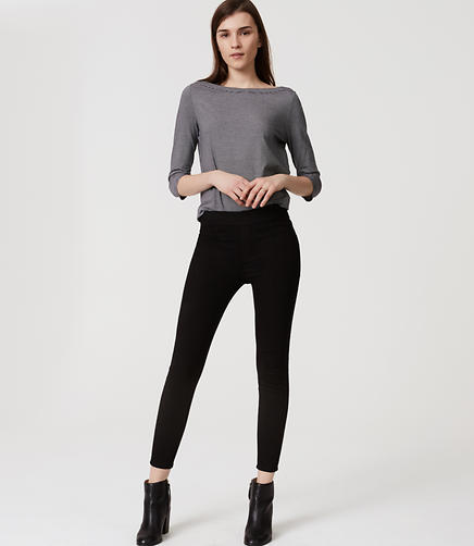 Image of Easy Denim Leggings in Black