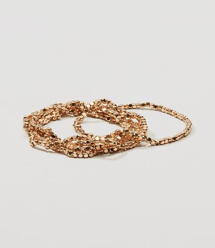 Image of Shashi Nugget Stretch Bracelet Set