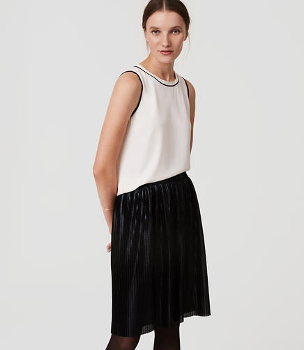 Image of Shimmer Pleated Skirt