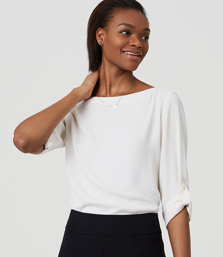 Image of Tab Sleeve Blouse