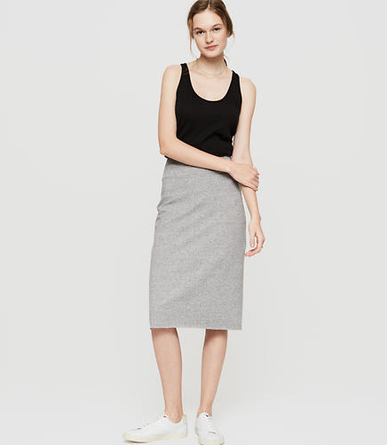 Image of Lou & Grey Rebound Terry Midi Skirt