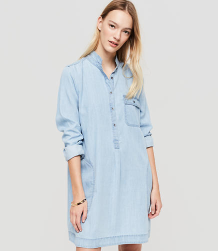 Image of Lou & Grey Chambray Shirtdress