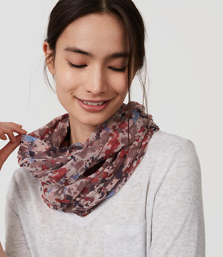 Image of Painterly Floral Infinity Scarf