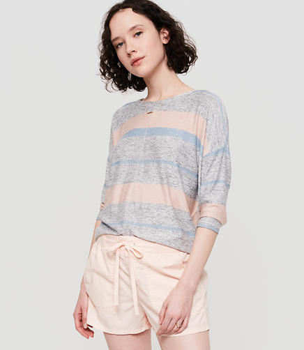 Image of Lou & Grey Striped Marlknit Dropshoulder Tee