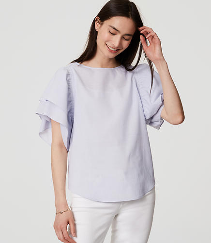 Image of Ruffle Sleeve Top