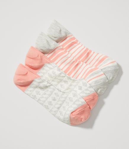 Image of Geo & Stripe No Show Sock Set