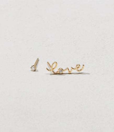 Image of Tai Jewelry Love and Stud Earring Set