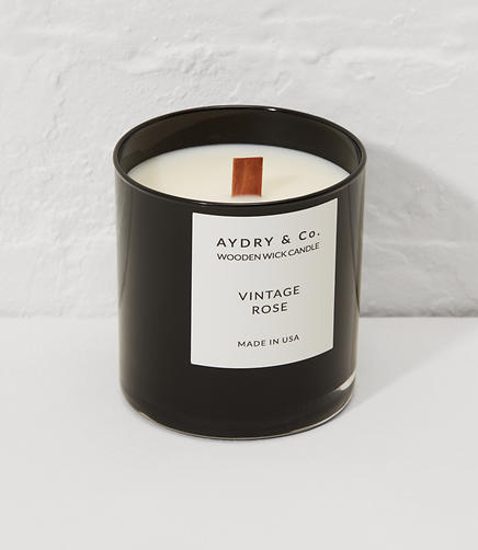 Image of Aydry & Co. Vintage Rose Wooden Wick Candle