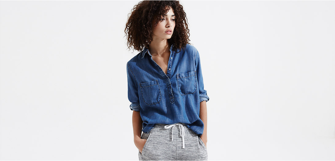Primary Image of Lou & Grey Chambray Easy Shirt