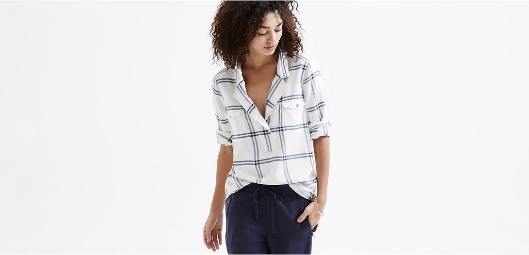Primary Image of Lou & Grey Plaid Palette Shirt