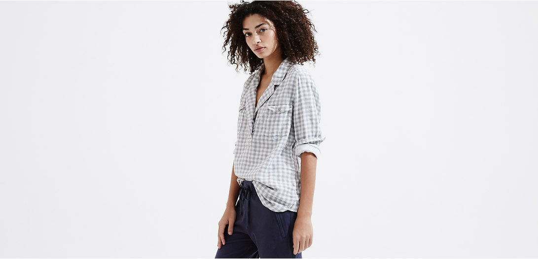 Primary Image of Lou & Grey Gingham Palette Shirt