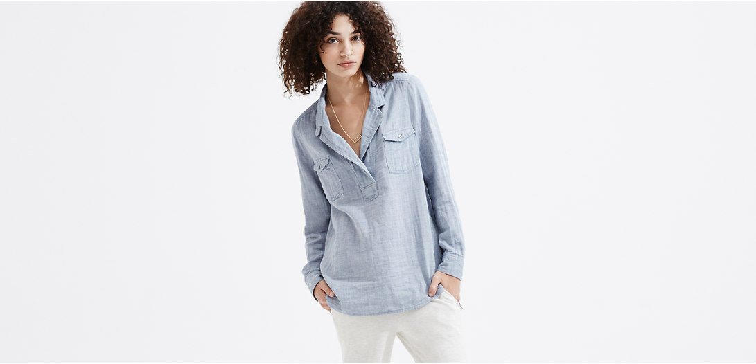 Primary Image of Lou & Grey Chambray Palette Shirt