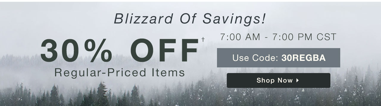 30% Off Regular-Priced Items - Shop Now